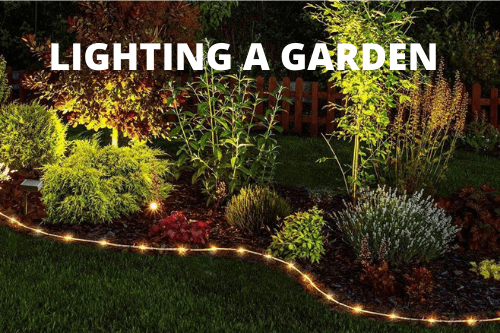 Lighting a garden
